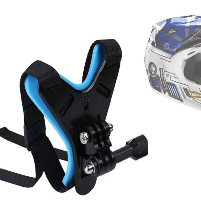 Helmet Chin Strap Mount for GoPro, SJCAM, Yi, DJI Osmo and Action Cameras